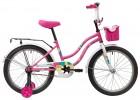 Велосипед 20' NOVATRACK TETRIS розовый+ корзина 201 TETRIS.PN 20 (20)