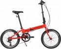 Велосипед 20' суперскладной NOVATRACK красный, 6 ск. 20FATG6SV.RD20