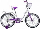 Велосипед 20' NOVATRACK BUTTERFLY белый-фиолетовый 207BUTTERFLY.WVL9