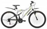 Велосипед MAVERICK 26' двухподвес, S 12 белый-черный, 21 ск.