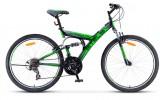 Велосипед 26' двухподвес STELS FOCUS V черный/зеленый 18 ск., 18'