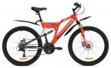 Велосипед MAVERICK 26' двухподвес, S 36 диск, красный матов., 21 ск., 18,5'