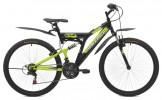 Велосипед MAVERICK 26' двухподвес, S 14 черный-зеленый матов., 21 ск.
