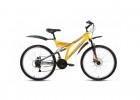 Велосипед ALTAIR 26' двухподвес, ALTAIR MTB FS disc диск, желтый/серый, 18 ск., 18' RBKT7SN6Q006