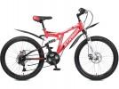Велосипед STINGER 26' двухподвес, HIGHLANDER 100 D диск, красный, 18' 26 SFD.HILAND1D.18 RD7