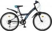 Велосипед 20' хардтейл NOVATRACK RACER черный, тормоз V-brake, 12 ск. 20SH 12V.RACER. BK7
