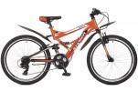 Велосипед STINGER 26' двухподвес, VERSUS оранжевый, 21ск. 26 SFV.VERSU.18 OR 5