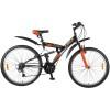 Велосипед FOXX 26' двухподвес, Attack черный/оранжевый, 18 ск. 26 SFV.ATTAC.20 BK8