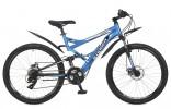 Велосипед STINGER 26' двухподвес, VERSUS синий, 18' 26 SFV.VERSU.18 BL 7