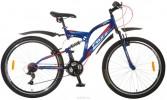 Велосипед FOXX 26' двухподвес, FREELANDER синий, 18 ск.,18' 26 SFV. FREELAND.18 BL 5.FP