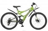 Велосипед STINGER 26' двухподвес, VERSUS D диск, зеленый, 21 ск., 16' 26 SFD. VERSUD.16 GN 7