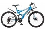 Велосипед STINGER 26' двухподвес, VERSUS D диск, синий, 21 ск., 20' 26 SFD.VERSUD.20 BL 7