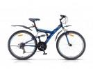 Велосипед 26' двухподвес STELS FOCUS MD диск, черный/синий 21 ск., 18'
