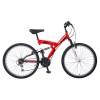 Велосипед MIKADO 26' двухподвес, Explorer V-brake, красный/белый, 18ск., 26 SFV.EXPLO.18 RD 8
