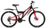 Велосипед 26' двухподвес ALTAIR MTB FS 26 disc диск, черный\красный, 18 ск., 18' RBKT8SN6Q005