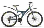 Велосипед 27,5' двухподвес STELS FOCUS MD диск, серый/жёлтый, 21 ск., 19' (2020)V010 LU083839