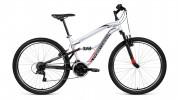 Велосипед 26' двухподвес FORWARD BENFICA 26 1.0 серый мат., 18 ск., 16' RBKW9SN6P004