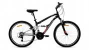 Велосипед 26' двухподвес FORWARD BENFICA 26 1.0 черный мат., 18 ск., 18' RBKW9SN6P005