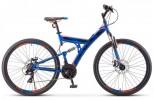 Велосипед 27,5' двухподвес STELS FOCUS MD диск, синий/неон. красный, 21ск., 19' (2020) V010 LU083834