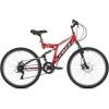 Велосипед 26' двухподвес FOXX FREELANDER черный, 18' 26SFD.FREELD.18BK0