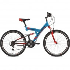 Велосипед 26' двухподвес FOXX Attack синий, 18 ск., 20' 26SFV.ATTAC.20BL0