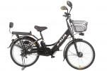 Электровелосипед 2-х колесный (велогибрид) Eltreco e-ALFA black-0082