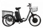 Электровелосипед 3-х колесный (грузовой) CROLAN 350W black-1879