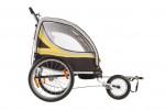 Велоприцеп для перевозки 2-х детей VIC-1302 (BTA 19) Желтый-0815