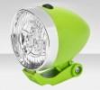 Фонарь передний JY-592 3 светодиода, серебристо-зеленый 560092