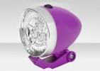 Фонарь передний JY-592 3 светодиода, серебристо-пурпурный 560093