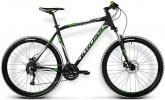 Велосипед 27,5' хардтейл, рама алюминий KROSS HEXAGON R6 черный/зеленый, 8 ск. (17-З)