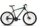 Велосипед KROSS 26' хардтейл, рама алюминий, HEXAGON X4 синий/желтый, 21ск. (17-З)