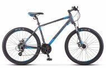 Велосипед 26' хардтейл, рама алюминий STELS NAVIGATOR-630 MD диск, антрацит/синий, 21 ск., 16'