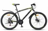 Велосипед 26' хардтейл, рама алюминий STELS NAVIGATOR-600 MD диск, антрацитовый/лайм, 21ск., 18'