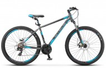 Велосипед 27,5' хардтейл, рама алюминий STELS NAVIGATOR-610 MD диск, антрацит/голубой, 21 ск., 21'
