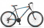 Велосипед 27,5' хардтейл, рама алюминий STELS NAVIGATOR-610 V черный/голубой/оранж., 21ск., 21'