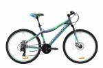 Велосипед MAVERICK 26' хардтейл, рама алюминий, Dancer 2.0 диск, матово-серый, 21ск.