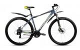 Велосипед FORWARD 29' хардтейл, рама алюминий, APACHE 2.0 disc диск, серый, 21ск., RBKW7M69Q007