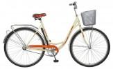 Велосипед FOXX 28' городской, рама женская, VINTAGE бежевый+передняя корзина 282 SHU.VINTAGE.BE8