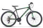 Велосипед 26' хардтейл, рама алюминий STELS NAVIGATOR-620 MD диск, черн./зелен/антрацит, 21ск., 17'