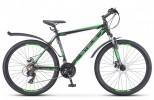 Велосипед 26' хардтейл, рама алюминий STELS NAVIGATOR-620 MD диск, черн./зелен/антрацит, 21ск., 19'