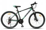 Велосипед 26' хардтейл STELS NAVIGATOR-500 MD диск, черный/зеленый, 21 ск., 18'