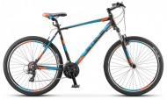 Велосипед 27,5' хардтейл, рама алюминий STELS NAVIGATOR-610 V черный/голубой/оранж., 21ск., 17,5'