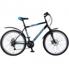 Велосипед 26' хардтейл, рама алюминий FOXX ATLANTIC D диск, черн./синий, 18ск. 26AHD.ATLAND.20BK8