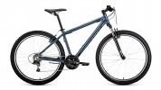 Велосипед 27,5' хардтейл, рама алюминий FORWARD APACHE 27,5 1.0 серый\черный 21ск., 15' RBKW9M67Q009