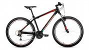 Велосипед 27,5' хардтейл, рама алюм. FORWARD APACHE 27,5 1.0 черн.\крас.мат. 21ск., 17' RBKW9M67Q011