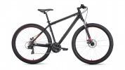 Велосипед 29' хардтейл, рама алюм. FORWARD APACHE 29 2.0 disc черный мат., 21ск., 17' RBKW9M69Q004