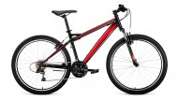 Велосипед 26' хардтейл FORWARD FLASH 26 1.0 черный\красный, 21 ск., 15' RBKW9MN6Q004