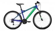 Велосипед 26' хардтейл FORWARD FLASH 26 1.0 синий\зеленый, 21 ск., 17' RBKW9MN6Q008