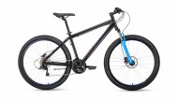 Велосипед 27,5' хардтейл FORWARD SPORTING 27,5 3.0 disc черный/синий, диск, 21 ск., 17' RBKW9MN7Q027
